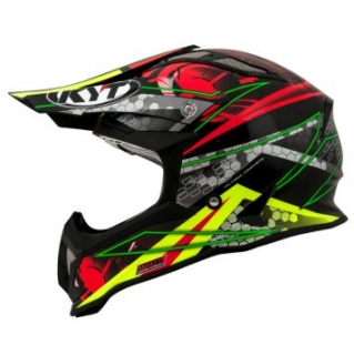 KYT STRIKE EAGLE WEB green/red